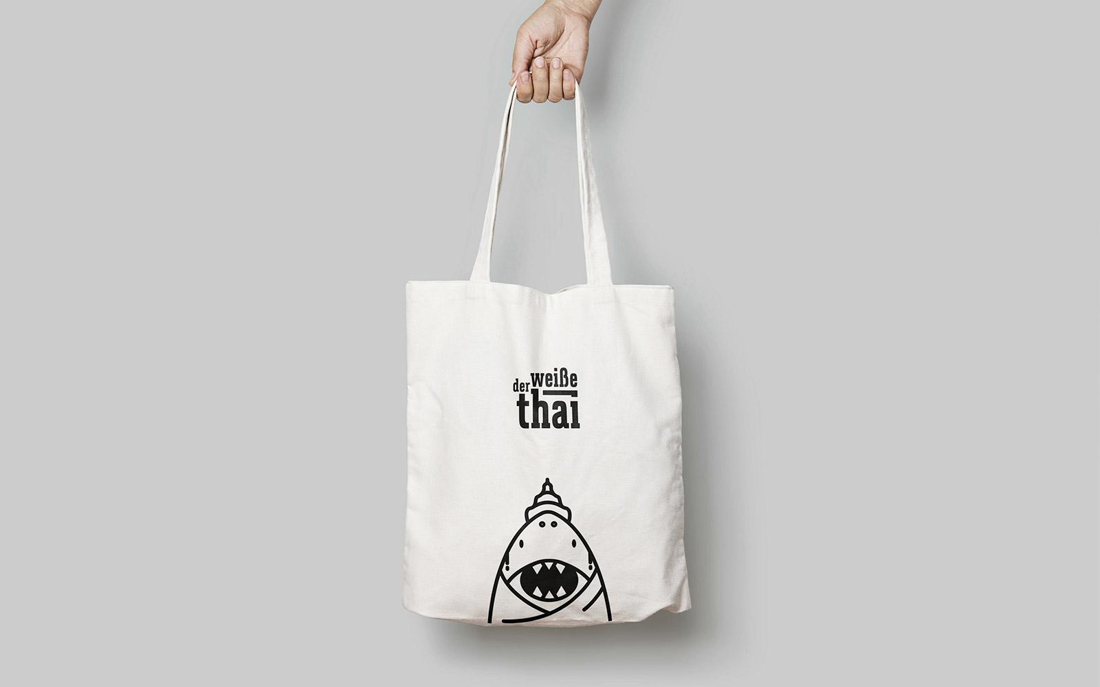 Der weiße Thai – Stofftasche