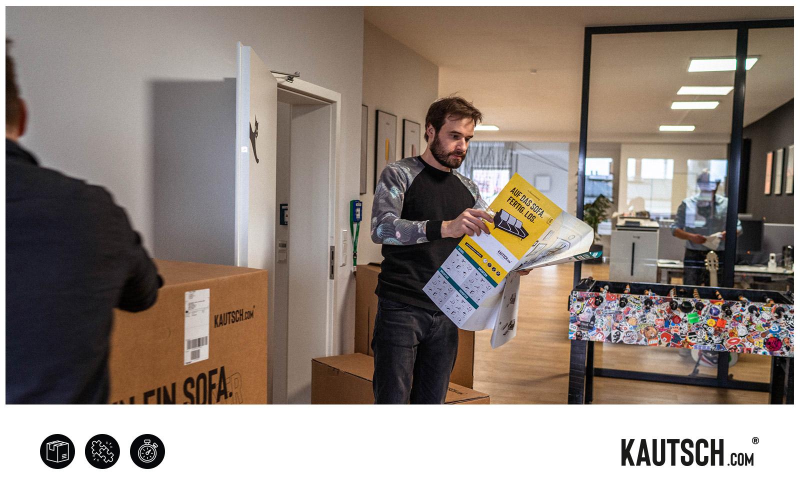 KAUTSCH.com – Aufbau Sofa