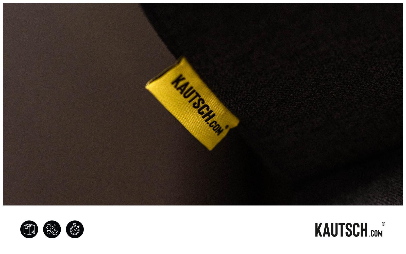 KAUTSCH.com – Label auf dem Sofa