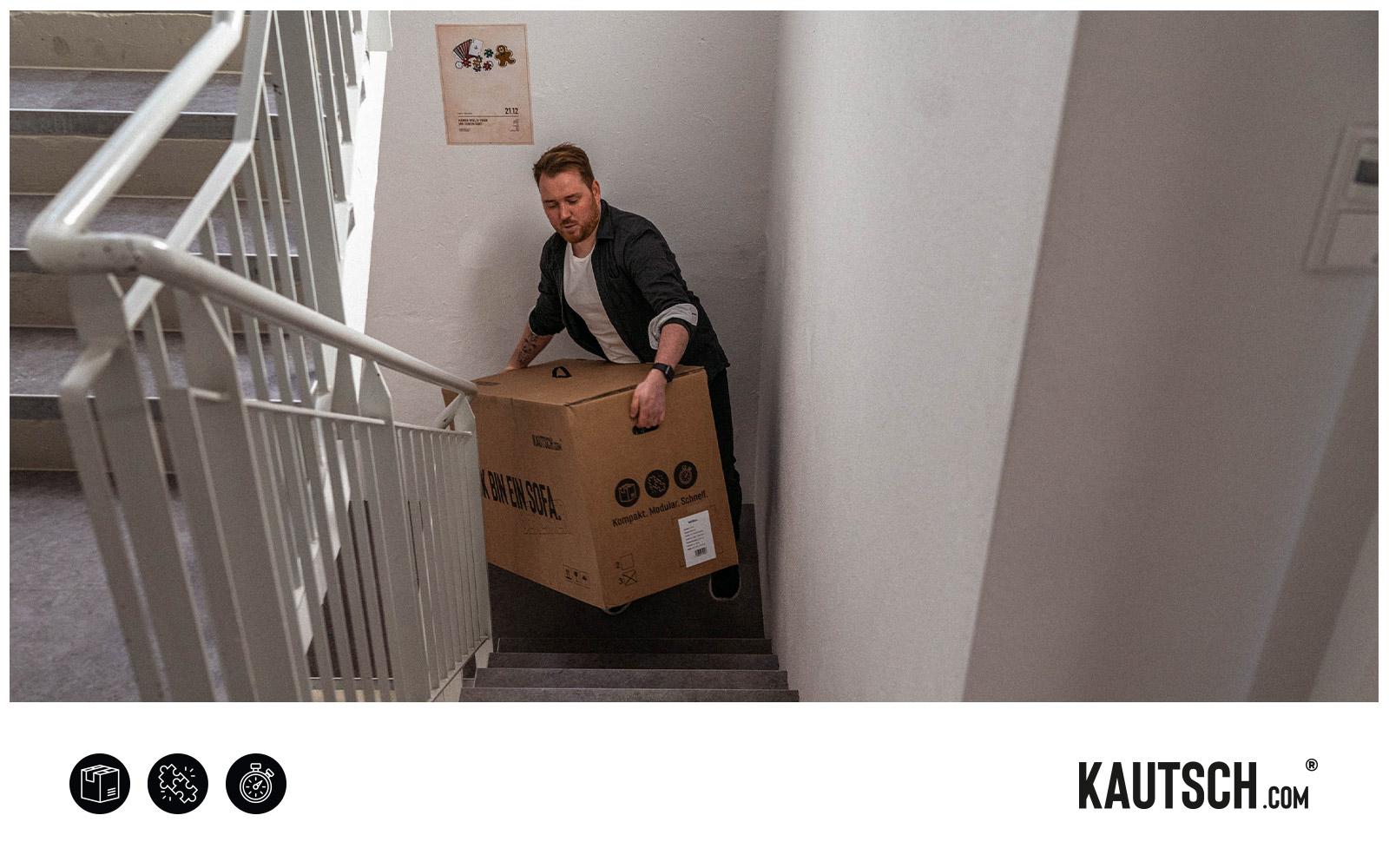 KAUTSCH.com – Einfache Handhabung im engen Treppenhaus
