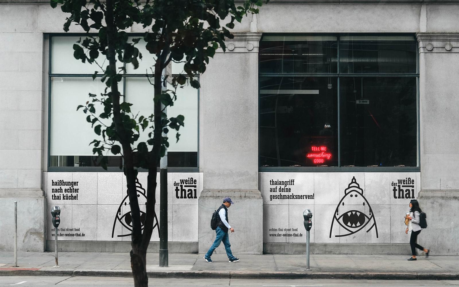 Der weiße Thai – Streetart