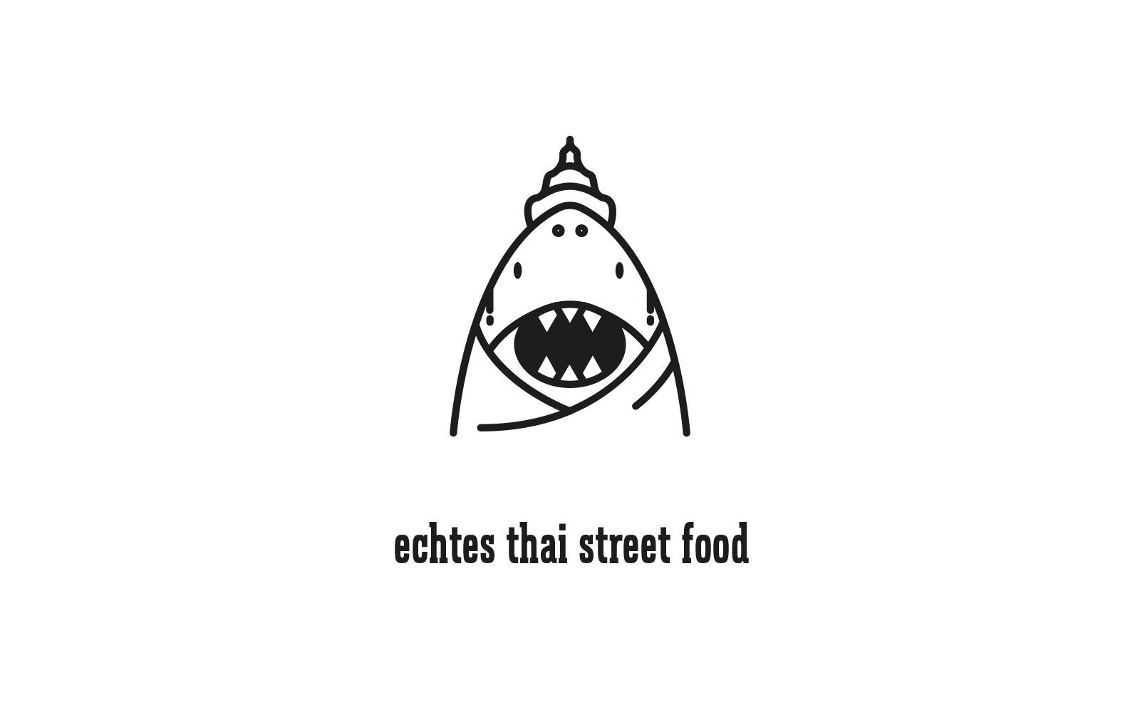 Der weiße Thai – Logo & Claim