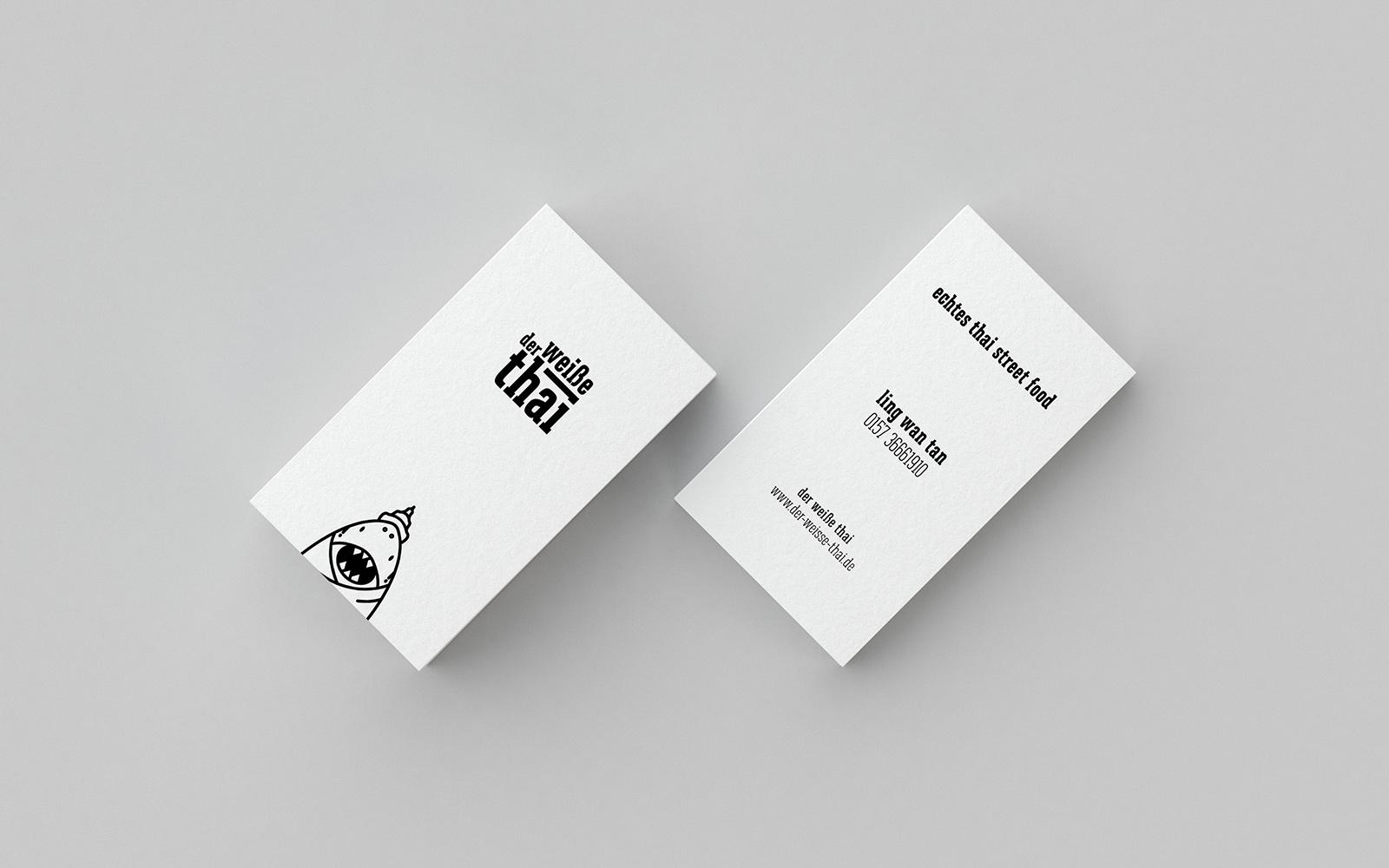 Der weiße Thai – Visitenkarten