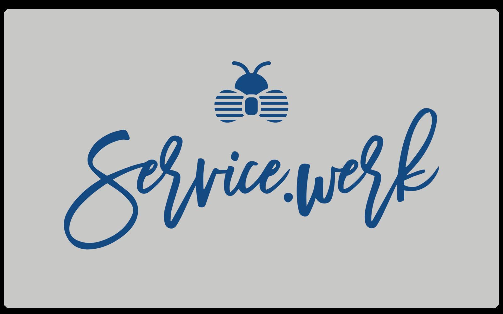 SERVICE.WERK – Logo Blue