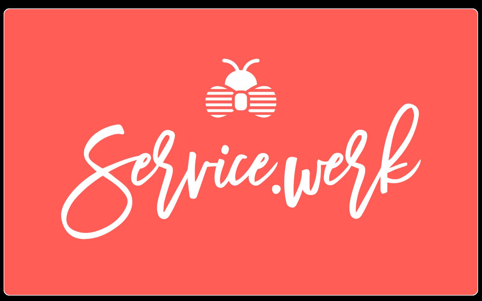 SERVICE.WERK – Logo White