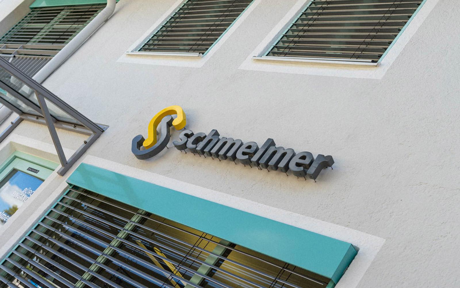 Werner Schmelmer GmbH & Co.KG – Logo Eingangsbereich