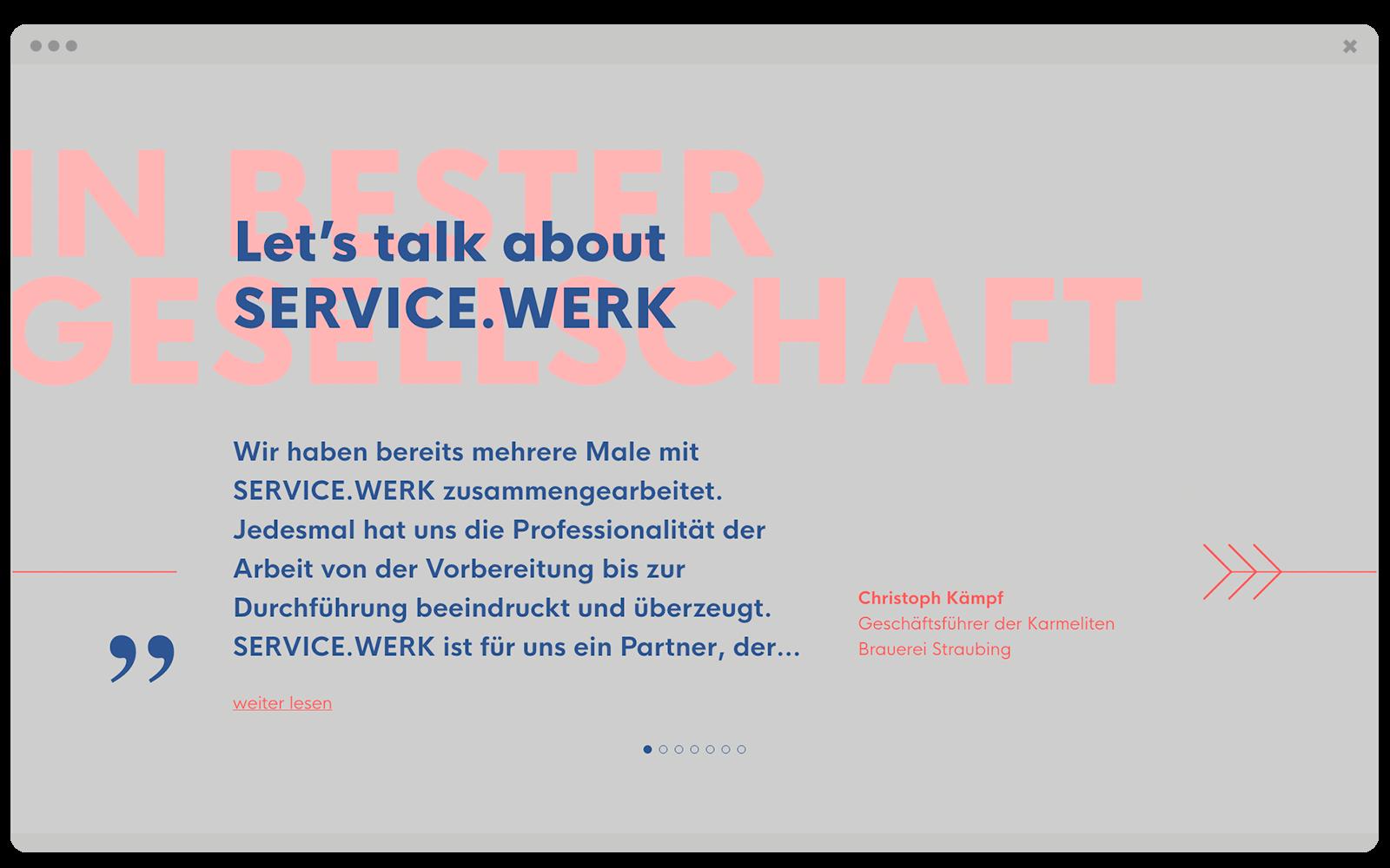SERVICE.WERK – Website