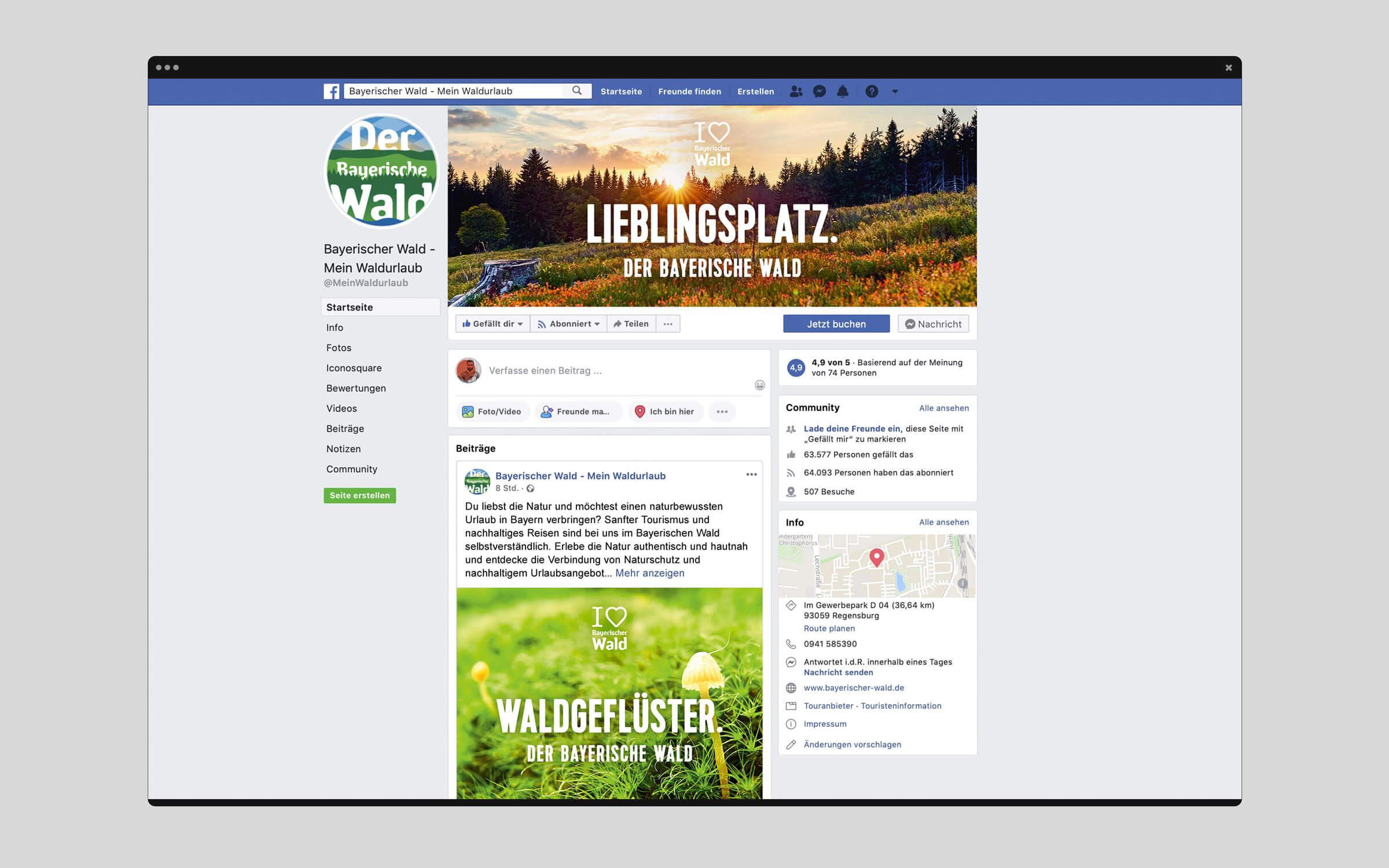 Imagekampagne »I love Bayerische Wald« – Facebook-Titelbild & -Anzeige