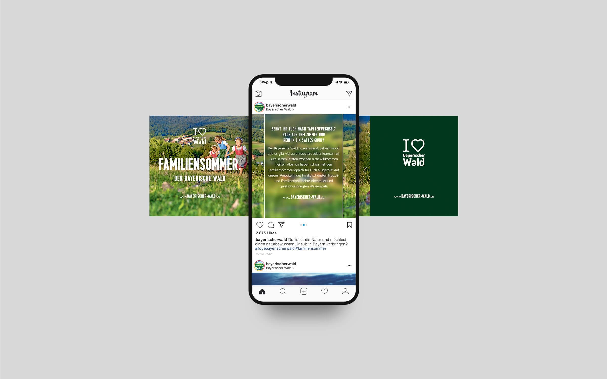 Imagekampagne »I love Bayerische Wald« – Instagram-Post