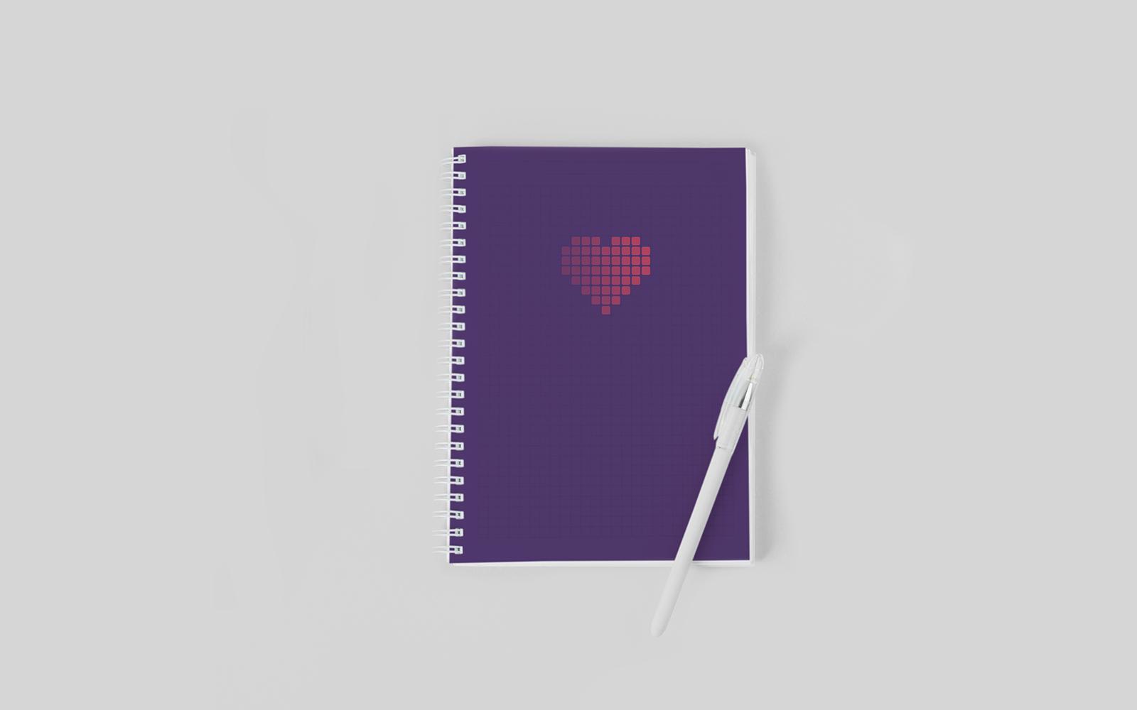 Firmenherz – Notizbuch