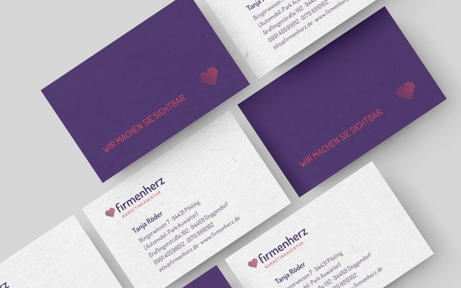 Firmenherz – Visitenkarten