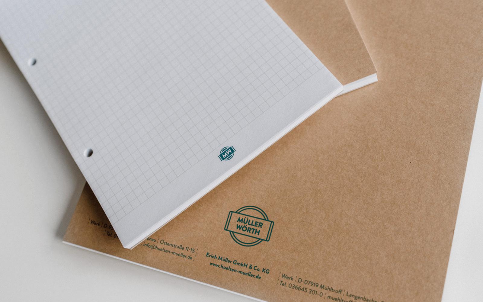 Müller Kartonagen- und Hülsenfabrik – Notizblöcke