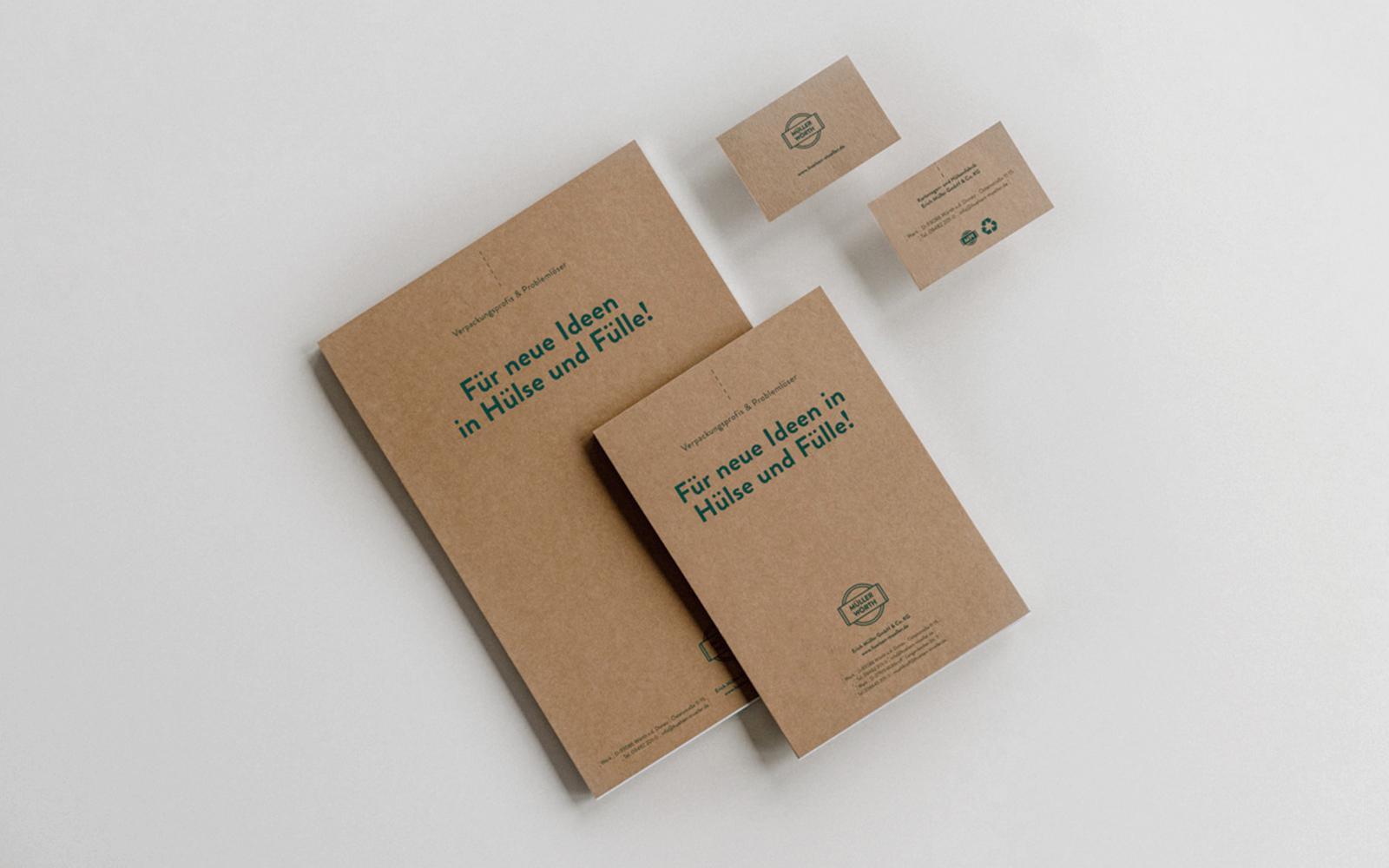Müller Kartonagen- und Hülsenfabrik – Notizblöcke, Visitenkarten
