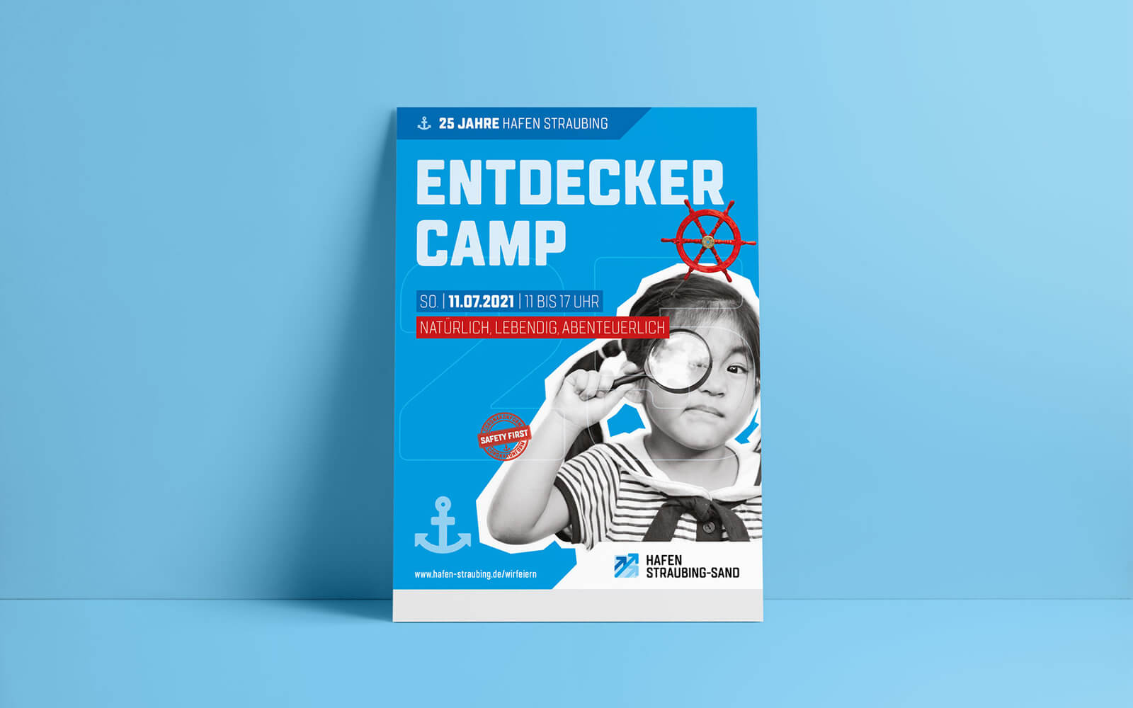25 Jahre Hafen Straubing-Sand – Plakat Entdeckercamp