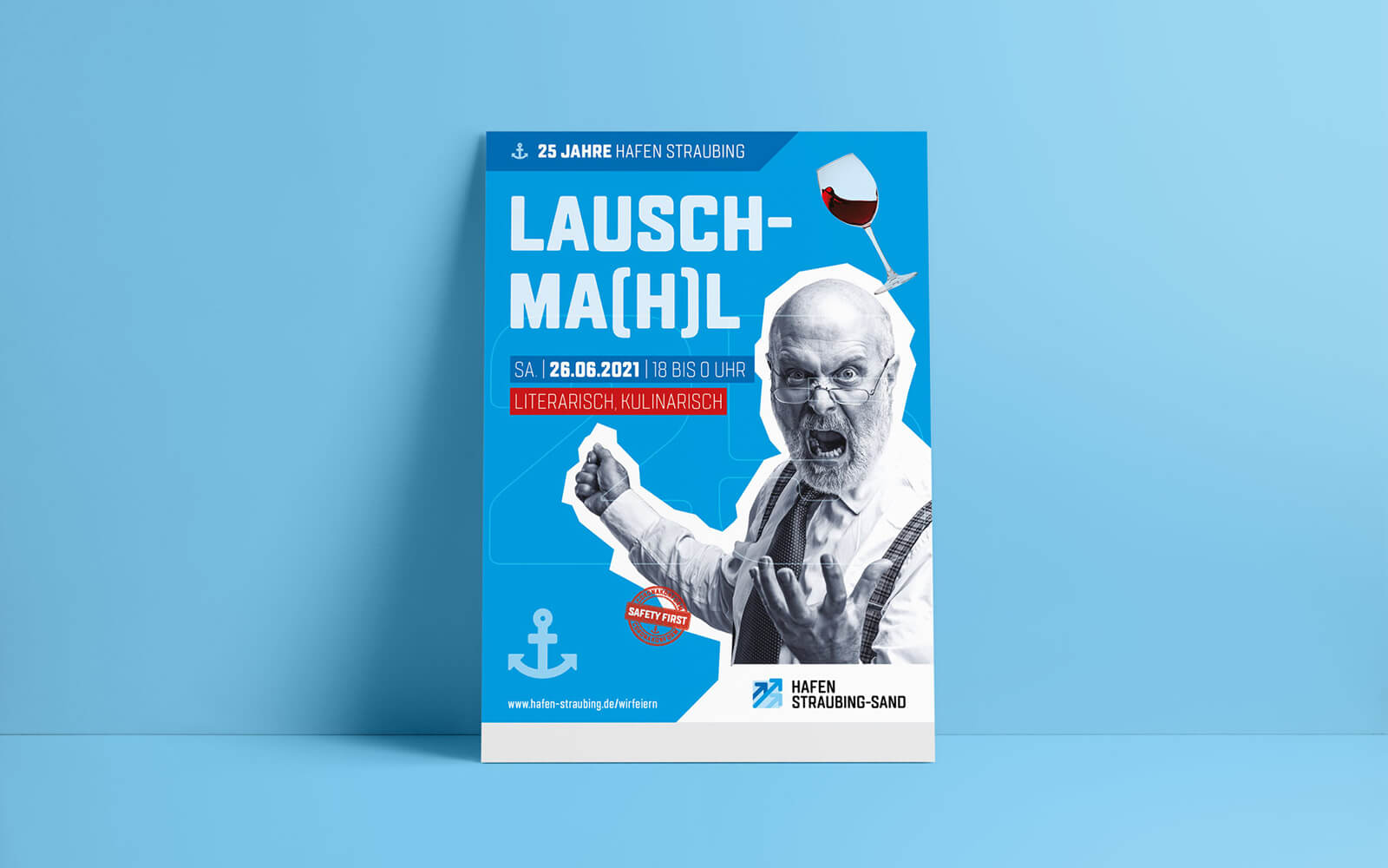 25 Jahre Hafen Straubing-Sand – Plakat Lauschma(h)l