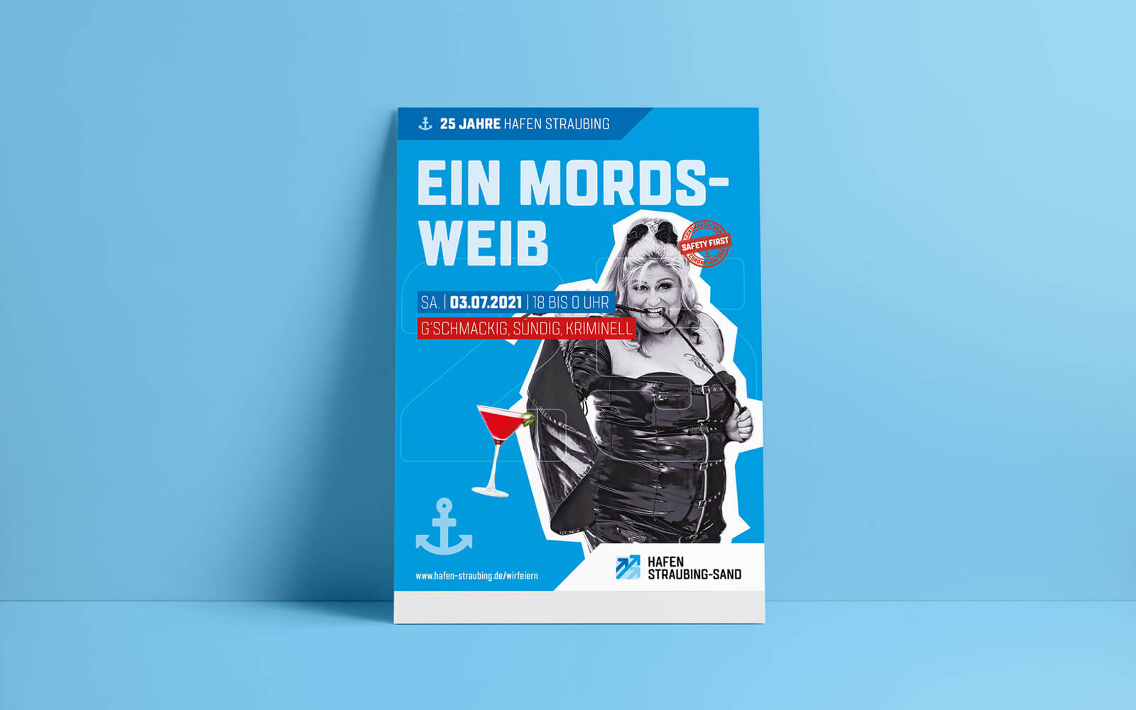 25 Jahre Hafen Straubing-Sand – Plakat Mordsweib