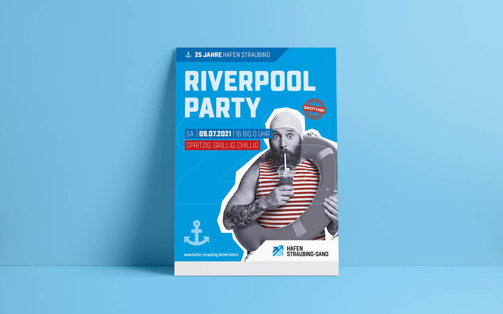 25 Jahre Hafen Straubing-Sand – Plakat Riverpool Party