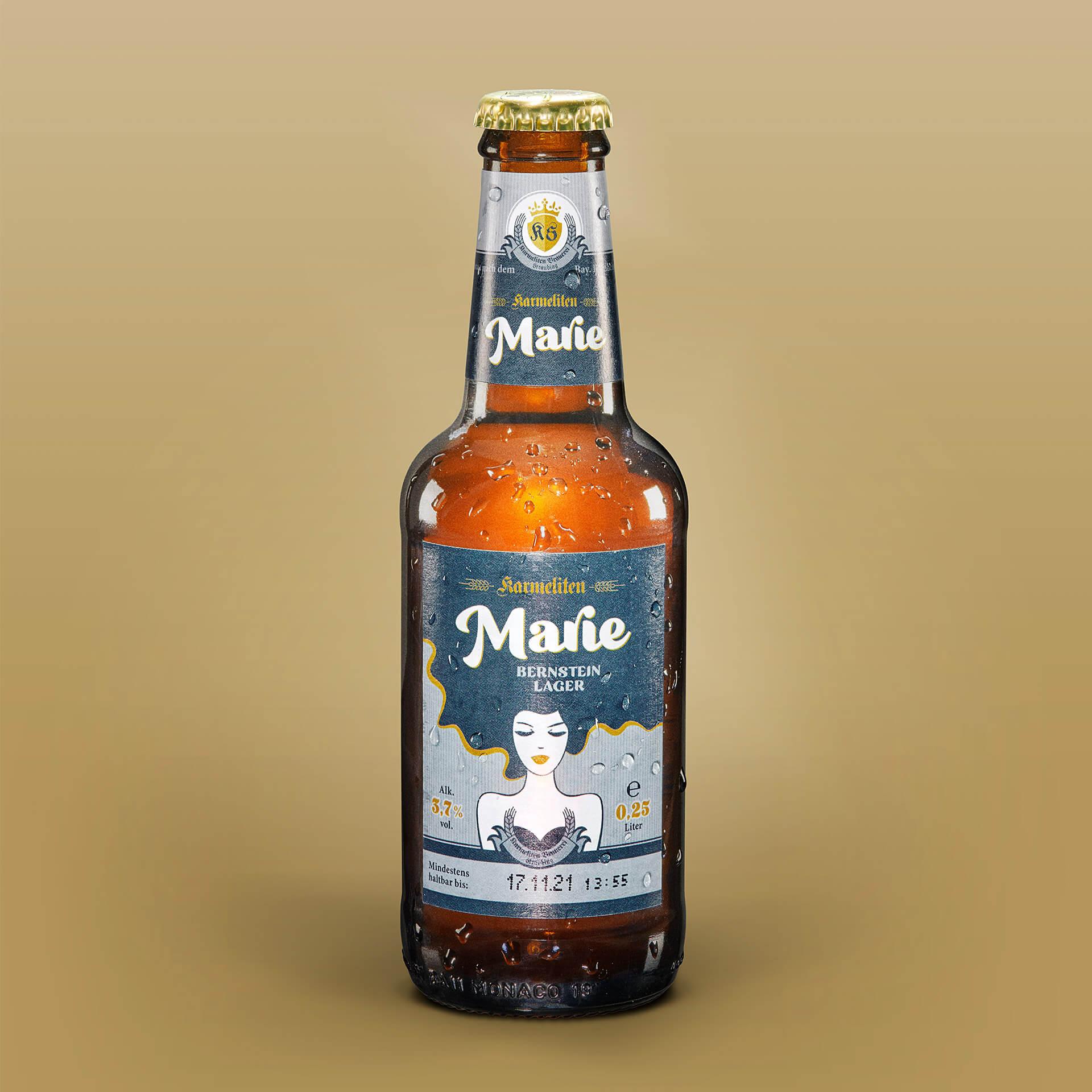 Karmeliten Brauerei – Marie Flaschenetikett