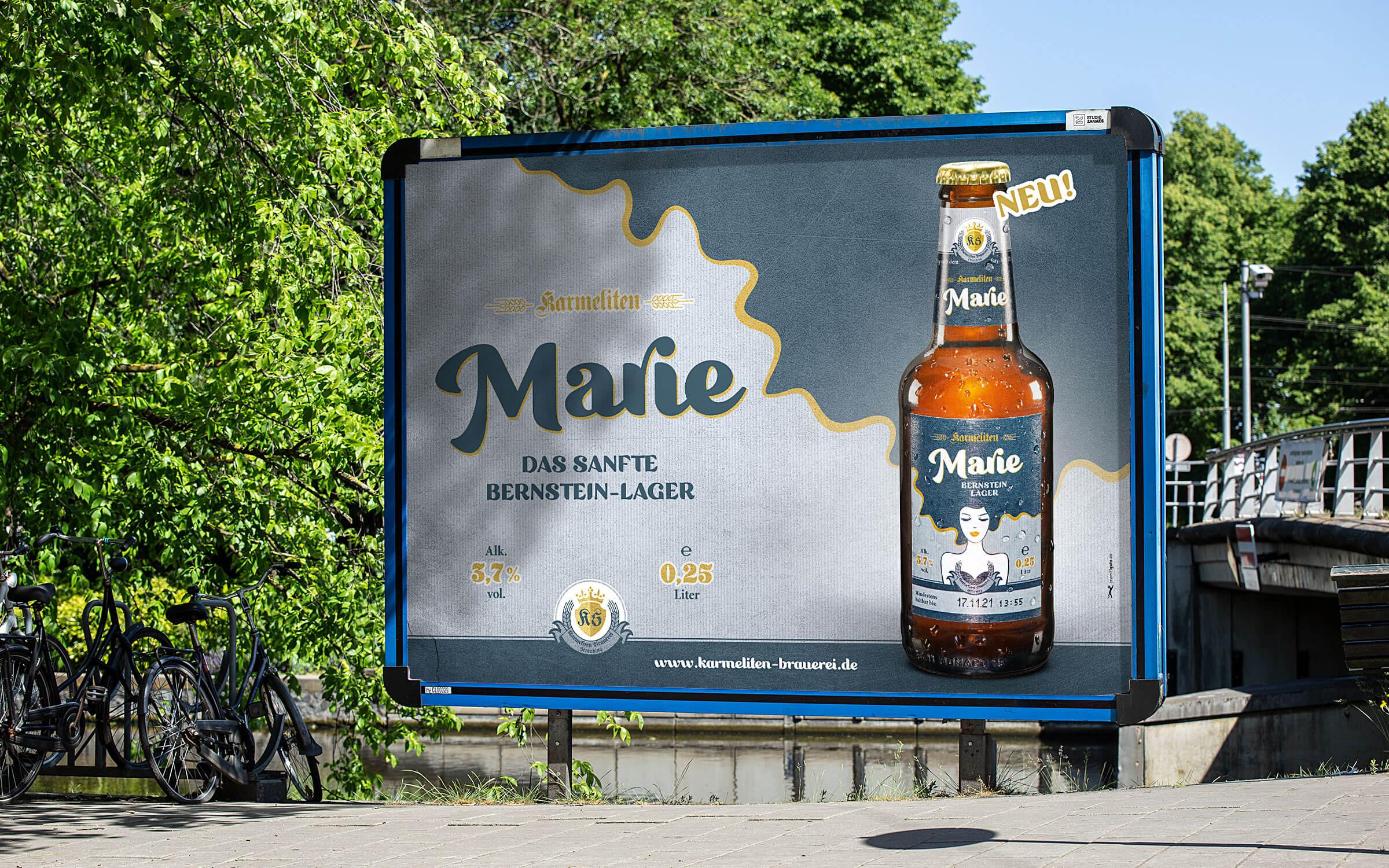 Karmeliten Brauerei – Marie Großflächenplakat