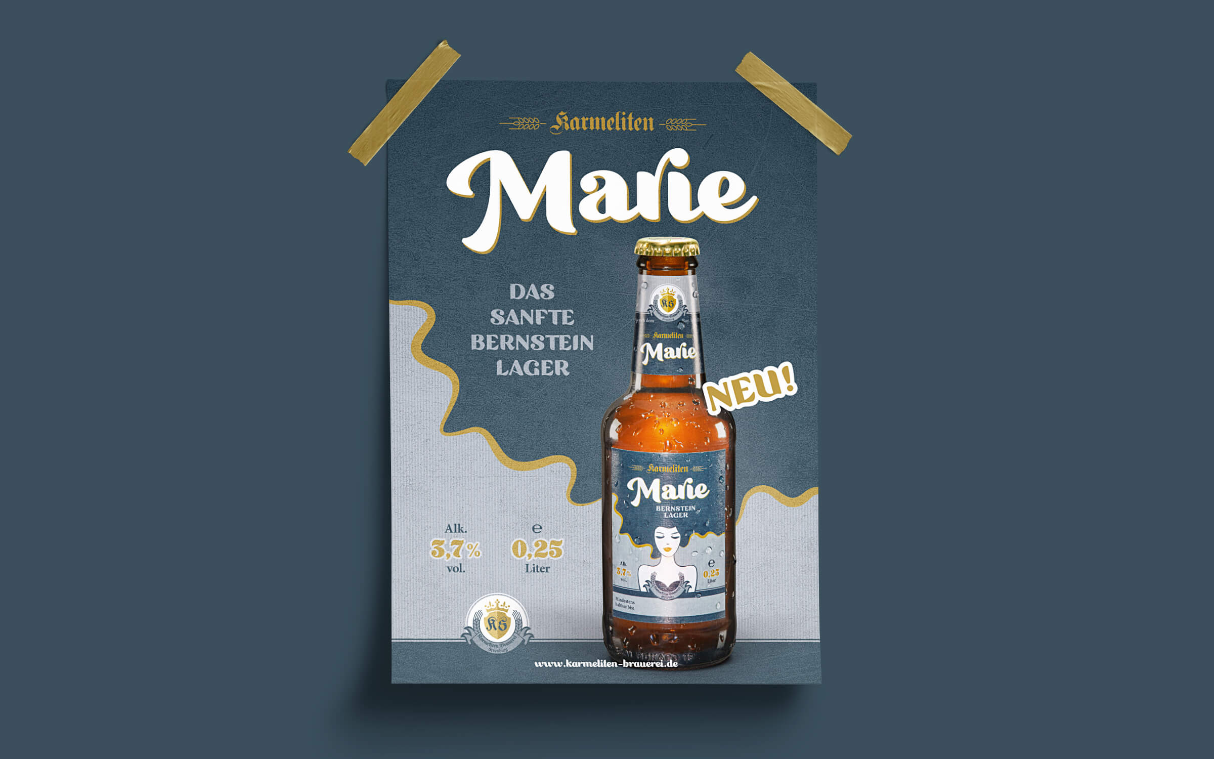 Karmeliten Brauerei – Marie Poster