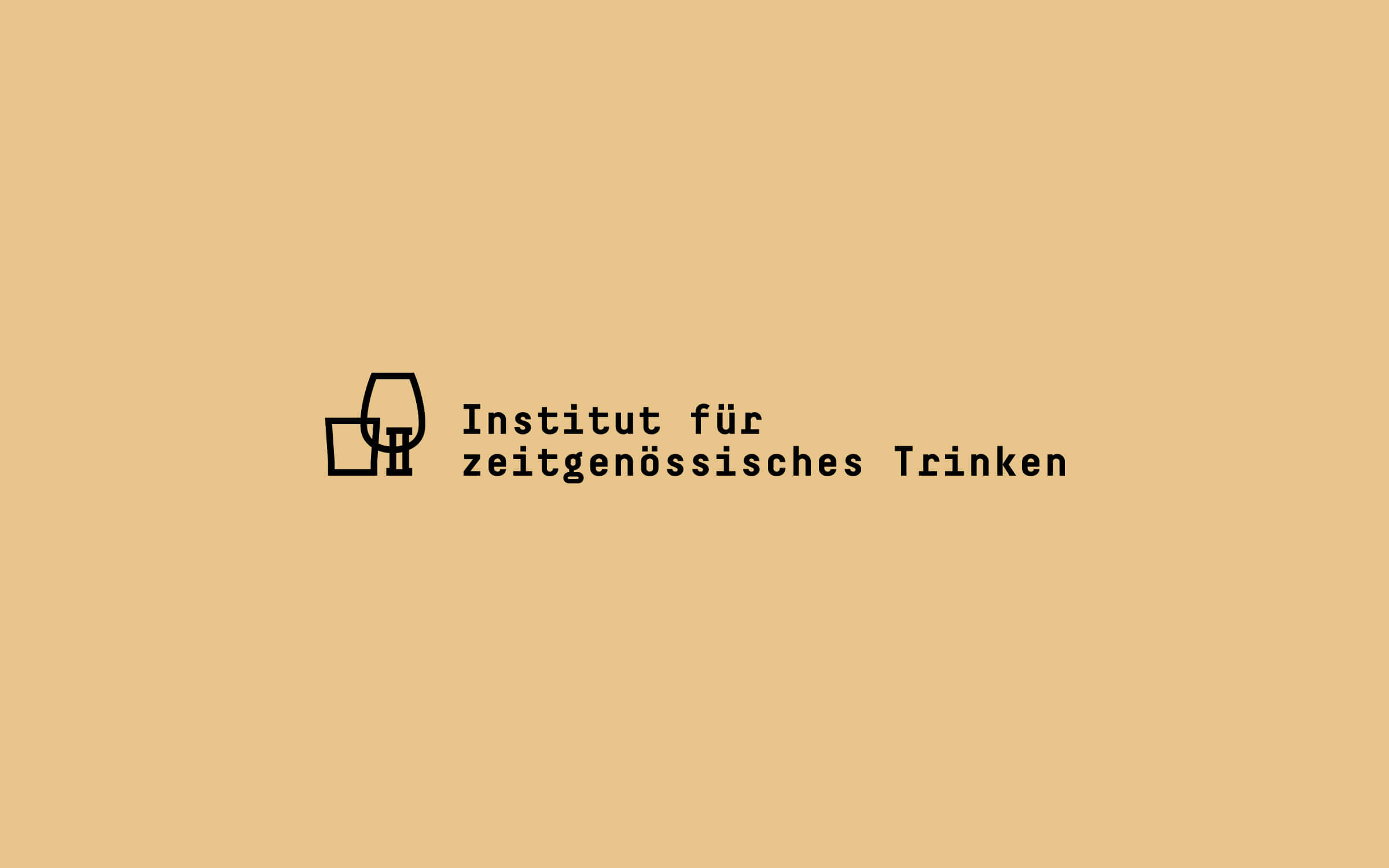 Institut für zeitgenössisches Trinken – Logo »zweizeilig«