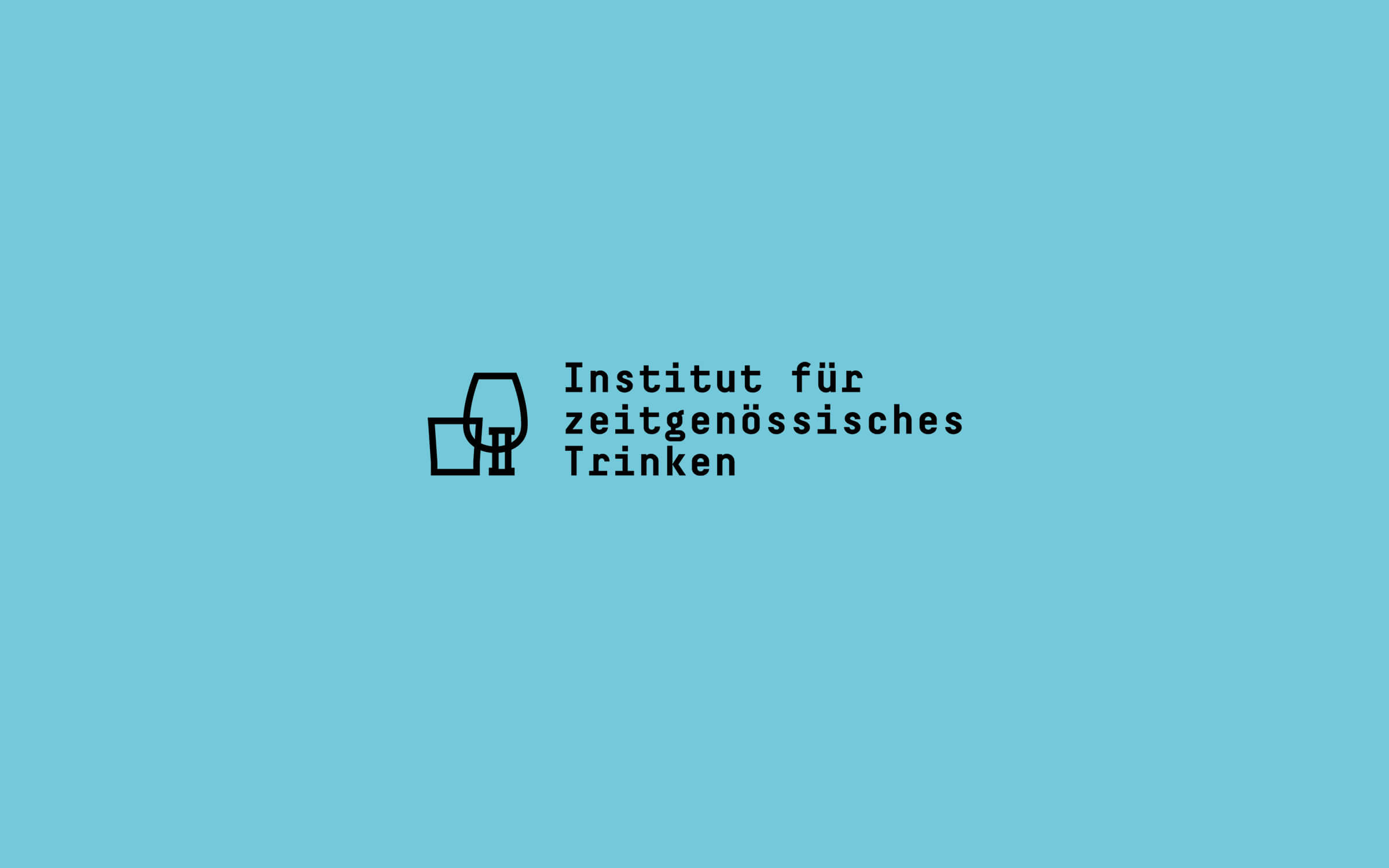 Institut für zeitgenössisches Trinken – Logo »dreizeilig«