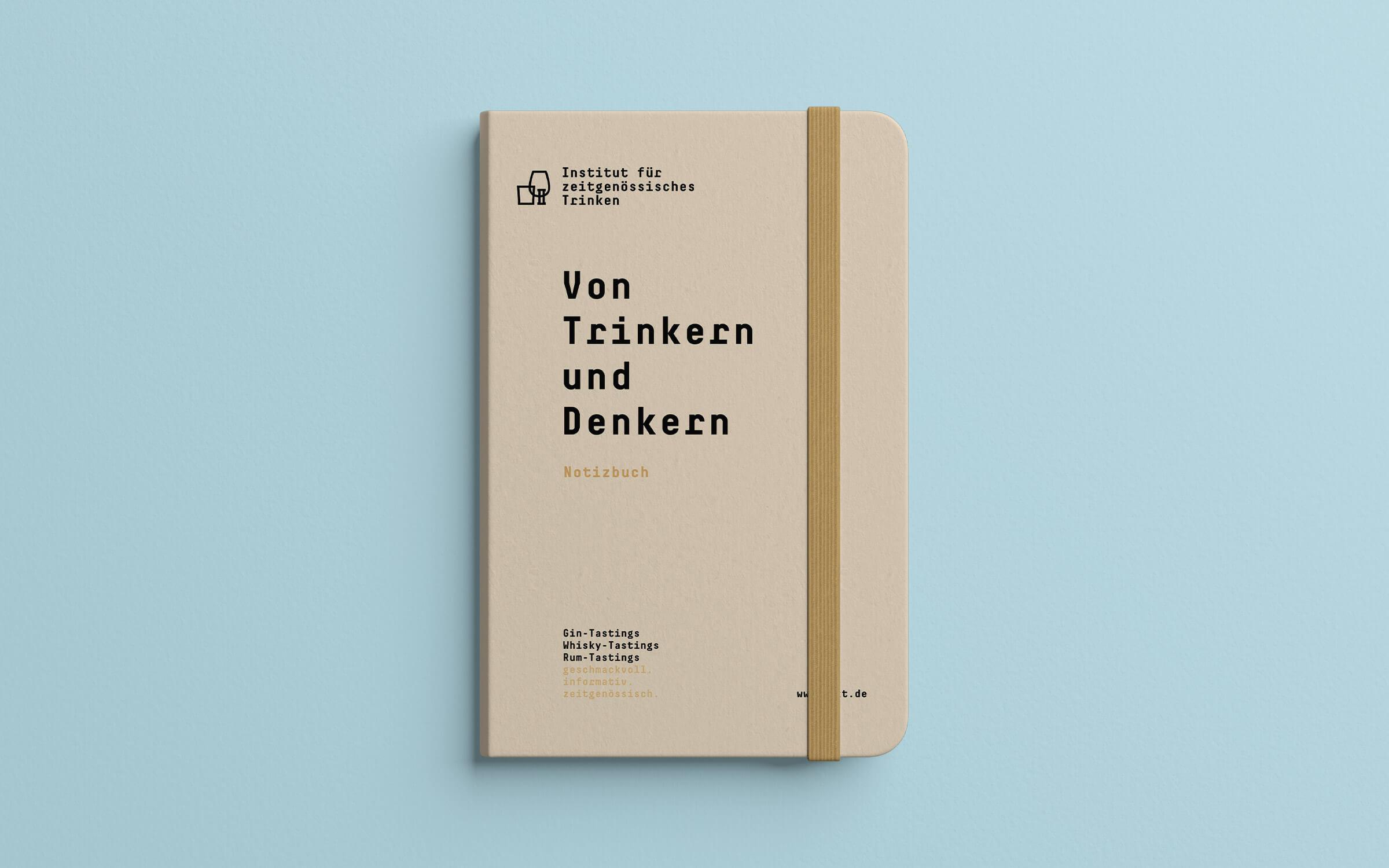 Institut für zeitgenössisches Trinken – Notizbuch